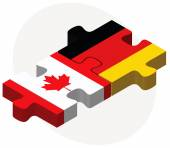 Canada and Germany Flags in puzzle — Stock Vector