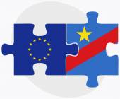 European Union and Democratic Republic Congo Flags in puzzle — Διανυσματικό Αρχείο