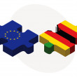 Постер, плакат: European Union and Zimbabwe Flags