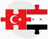 土耳其和叙利亚国旗 — 图库矢量图片