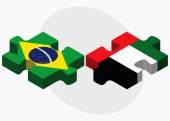 Brezilya ve Birleşik Arap Emirlikleri bayrağı — Stok Vektör