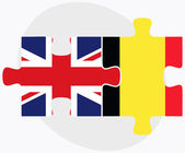 United Kingdom and Belgium Flags — Stock Vector