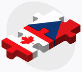 Canada and Czech Republic Flags — Stock Vector