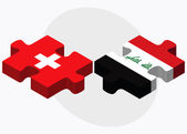 Switzerland and Iraq Flags — Stock Vector