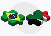 Brazil and Sudan Flags — Stock Vector