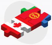 Canada and Eritrea Flags — Stock Vector