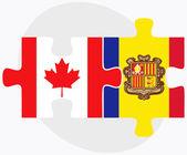 Canada and Andorra Flags — Stock Vector