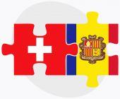 Switzerland and Andorra Flags — Stock Vector