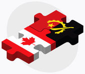 Canada and Angola Flags — Stock Vector