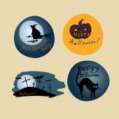 Halloween Posters set. — Stockvector