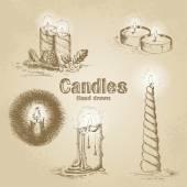 Set of vintage candle — Vecteur