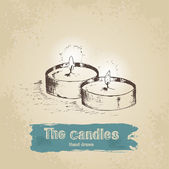 Hand drawn candle — Stock Vector