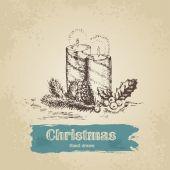 クリスマスキャンドル — ストックベクタ