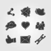 Social network icon — Stock Vector
