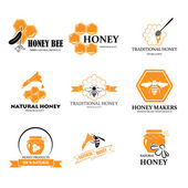 Set of honey labels — Stock Vector