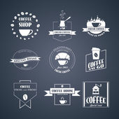 Vector set of coffee logos, — Stock Vector