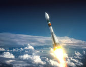 Carrier Rocket Take Off — Stock Photo