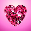 cuore di diamante rosa — Foto Stock #62819667