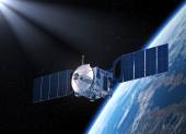 Satellite. 3D Scene — Stock Photo