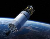 Crew Exploration Vehicle In Space — Stock Photo