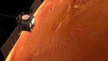 """""""Mars Express"""" Orbiting Mars — Stock Video"""
