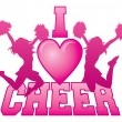 I Love Cheer — Stock Vector #53180447