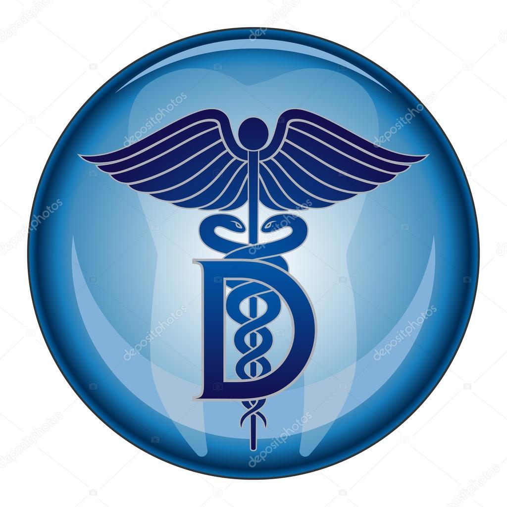 Dentist Medical Symbol Button — Stock Vector © AWesleyFloyd #56381033