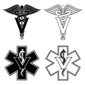 Veterinarian Medical Symbols — Cтоковый вектор