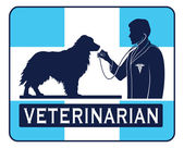 Veterinary With Dog Graphic — Vector de stock