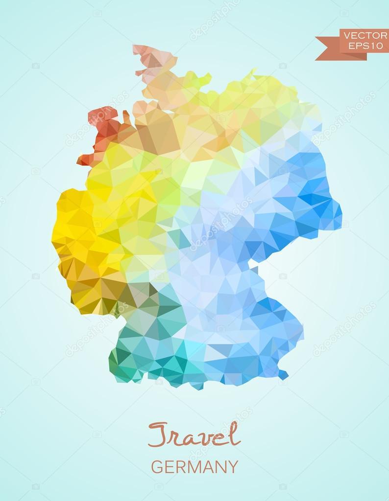 低聚匹配的德国电子地图 — 图库矢量图像08 super