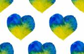 Watercolor hearts seamless pattern — Stock Vector