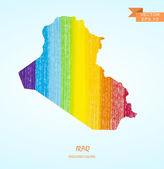 Pencil stroke map of Iraq — Stock Vector