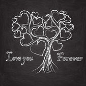 Love you forever tree — Stock Vector