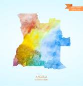 匹配的安哥拉的水彩素描电子地图 — 图库矢量图片