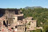 Historic Town Sorano , Tuscany, Italy — 图库照片