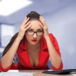 Young woman secretary at work at the office — Stock Photo #52990283