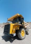 Heavy building bulldozer quarry,car — Stock Photo