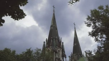 Ukraine, L'viv city  .Church Timelapse. May 28, 2014 — Stock Video