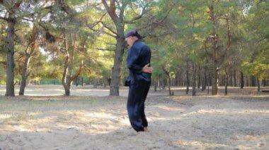Rem Plugatar.Master of wushu,wu hsing (five elements)from Ukraine — Stock Video