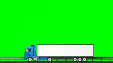 Your text on the truck,transitions (green screen, alpha) — Stock Video