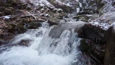 Waterfall in mountain — Stock Video