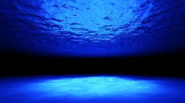 3d underwater ocean and reflection caustic — Stock Video