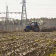 Tractor preparing land for sowing — Stock Photo #60150243