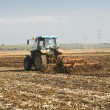 Tractor preparing land for sowing — Stock Photo #60150301