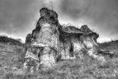 Rock phenomenon in black and white — Stock Photo