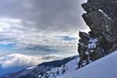 冬の山の風景 — ストック写真