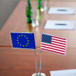 Flags on the table — Stock Photo #60149535