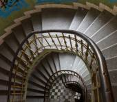 View of the spiral staircase — Stock Photo