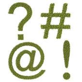 Klávesnice symboly z trávy. — Stock fotografie