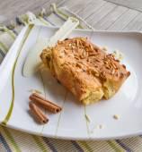 Cinnamon Almond chip sponge cake — Stock Photo